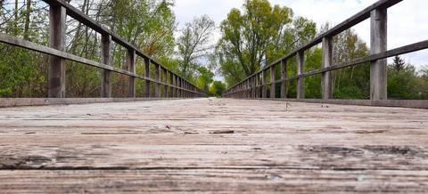 Holzbrücke Radschnellweg