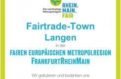 Urkunde Fairtrade