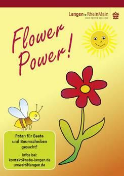 Postkarte Flower-Power