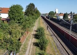 Radweg westlich der Bahn 1