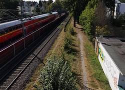 Radweg westlich der Bahn 2