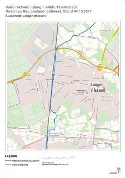 Raddirektweg Verbindung 1 Langen