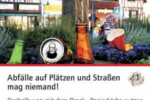 Abfallpostkarte Lutherplatz