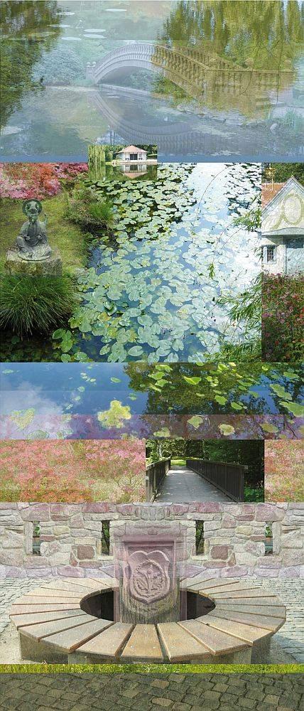 """Digitalcollage """"Aussicht"""" von Renate Kletzka"""