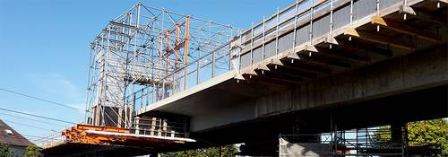 Slider Bahnbrücke Absenkung