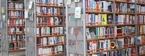 Neue Kostenregelung für Bücherei - Regalreihe