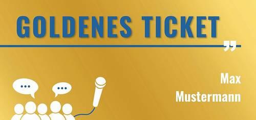 Jugendforum - Goldenes Ticket