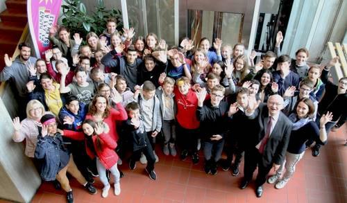 Französische Schüler entdecken Langen