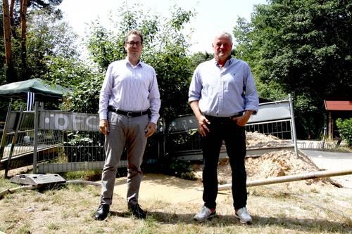Unterstützung 1. FC Langen Wasserleitung