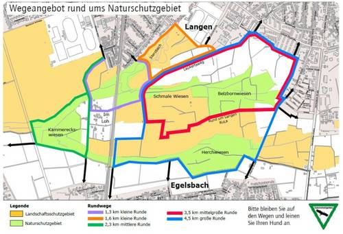 Wegeangebot Naturschutzgebiet 2021