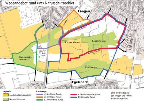Wegeplan Naturschutzgebiete