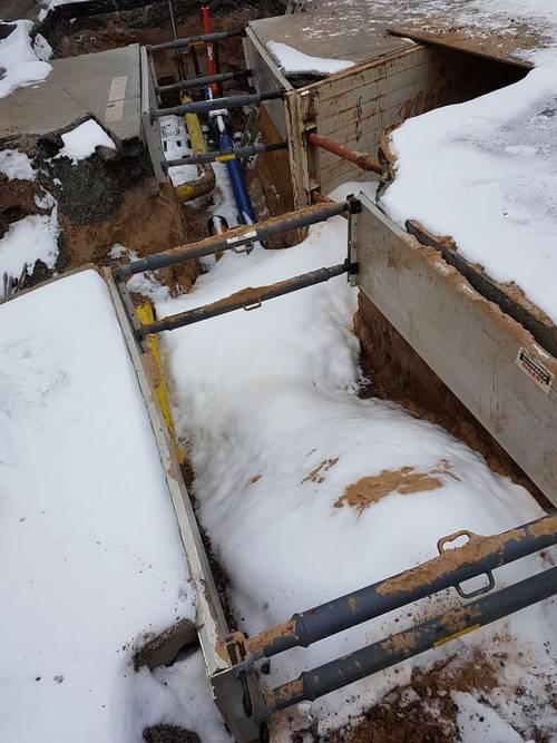 Bauarbeiten Hegweg Verzögerung wegen Schnee und Eis