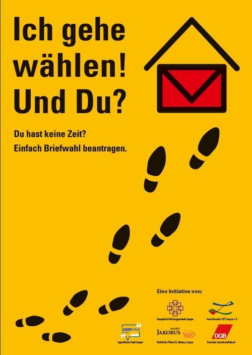 Plakat Ich geh wählen und du