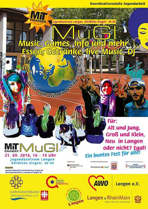 Gemeinsam feiern beim MuGI-Fest - Plakat