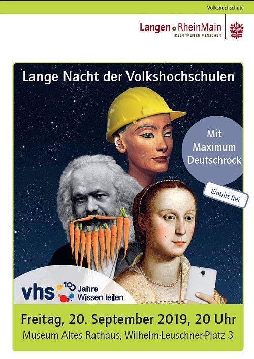 Plakat Lange Nacht der vhs Langen