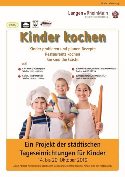 Kinder kochen - Plakat