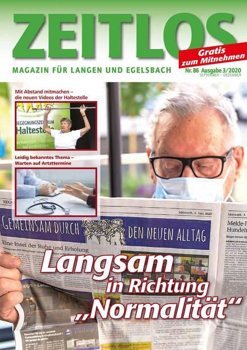 ZEITLOS-Cover Ausgabe Nr. 86 September - Dezember 2020