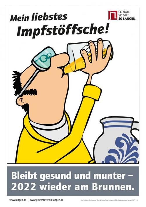 Plakat Impfstöffche - Ebbelwoifest dehaam