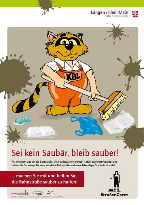 Plakat Waschbär gegen Saubär