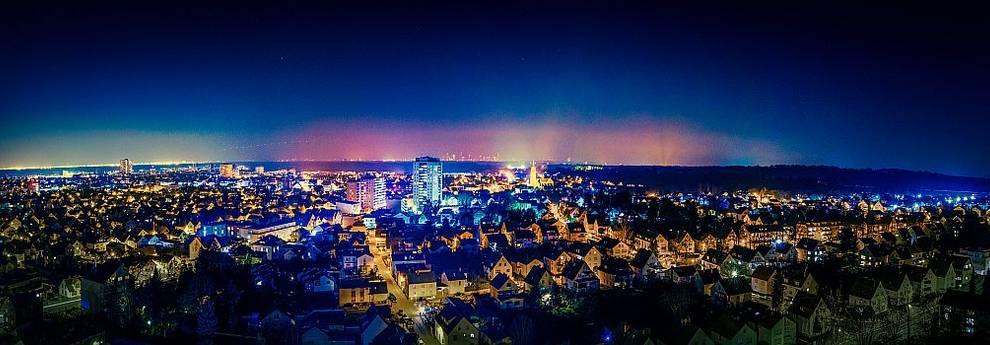 Slider Langen Panorama Nacht