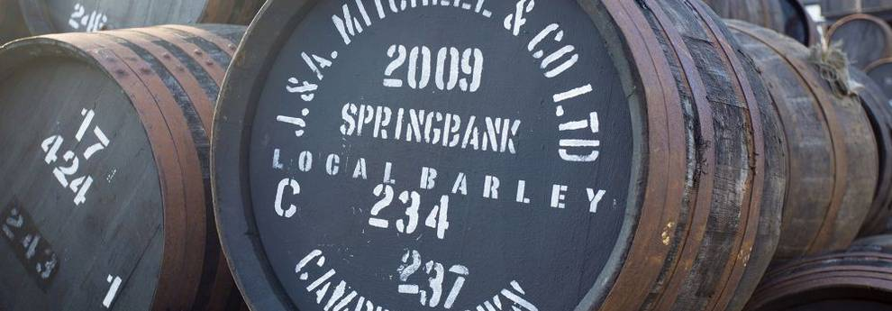Duell der Whiskylegenden - Springbank Fässer