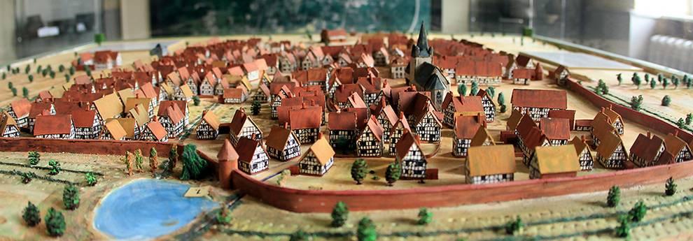 Slider Stadtmodell im Museum Altes Rathaus