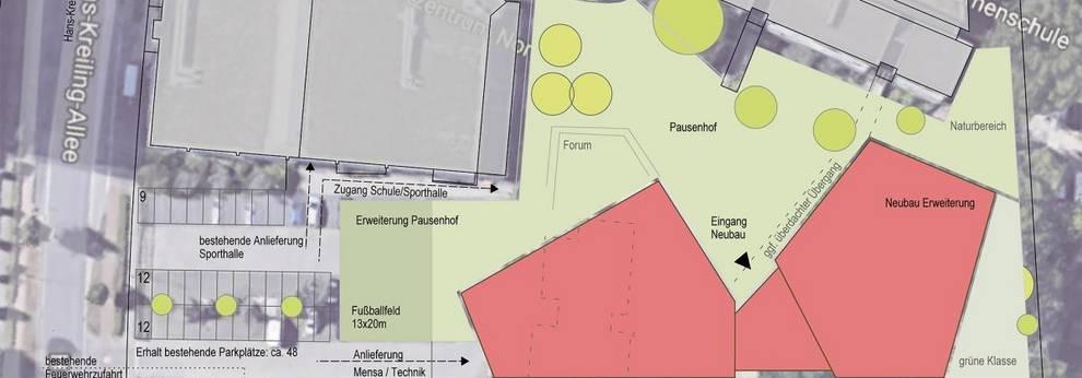 Sonnenblumenschule Skizze Erweiterung