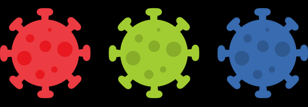 Coronaviren bunt Grafik